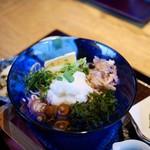 蕎麦処鏑屋響 - 【2016.5】おろしかけそば(天ぷら付) 1,100円