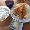 シェット - 料理写真:Fセットの海老フライ・アジフライ¥1,000