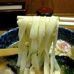 都きしめん - 味噌きしめん、太麺が選べるようになっていました
