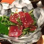魚盛 - 鮪の九条葱和え