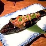 魚盛 - 長茄子の海老味噌田楽