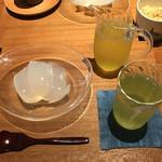 56115459 - くず餅セット(アイス煎茶)