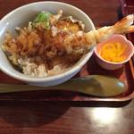 丸はし - 料理写真:ミニ天丼@380円(麺類を頼まず単品注文をすると@580円)