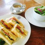 ボンポアンカルダン - サンドイッチのランチ1000円税込