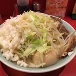 小十郎 - 塩ラーメン:大盛り+刻みネギ