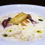 ラボンヌターシュ - ホワイトアスパラと新玉ねぎのスープ