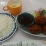 若竹 - 料理写真:ミンチカツ定食