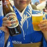花山 - まずは、ビールで喉を潤します。