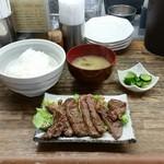 さかえや - 和風ステーキ定食(850円)