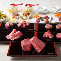 ハンバーグと塊肉が堪能できる格之進Rtコースが1番人気です