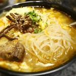 牛屋 - 冷麺の麺+カルビスープ