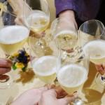 トゥ・ラ・ジョア - シャンパンで乾杯♪