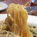 ロマーノ五反田 - 乾麺使用、細めのスパゲティ