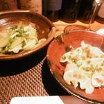 RAKUSUI - 青菜の炒め、水餃子