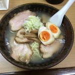 一生懸麺 とっかりⅡ - 塩らーめん・大盛・チャーシュー増し 2016年9月