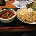 実咲庵 - 辛辛油かすつけ麺