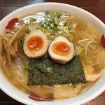 正月屋 - 伊達鶏とろそば(950円)+半熟煮玉子(100円)