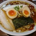 正月屋 - バラ肉そば(1000円)+半熟煮玉子(1000円)