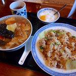 56298518 - 半五目チャーハンと半五目タン麺セット(978円)