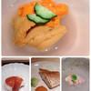 ささき - 料理写真:つまみ  雲丹の食べ比べ贅沢。 ハモに見えるのが穴子。