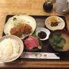 かつ村 - 料理写真:9/26 特別定食  (一口ヒレカツ2個、鮪刺身、ご飯・味噌汁)  1,000円(税込み)