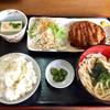 薩摩屋 - 料理写真:日替わり定食580円(メンチカツ)