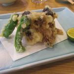 わくい亭 - 「松茸の天ぷら」