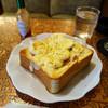 喫茶 ボタン - 料理写真:ハムエッグ とろ~りチーズのオープンサンド