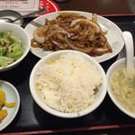 中華料理 珍味楼 - 豚ロースの生姜焼き定食