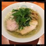 麺屋 六感堂 - しおグリーン麺ゆずみつば 950円