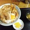 味のさつま - 料理写真:さつま丼ミニ(ごはん1/3)1050円。普通で頼んでると山盛りになってました。凹んでてこの量です。