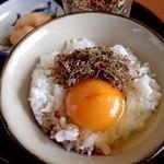 """利尻亀一 - """"利尻ッ子""""でTKG;黄身の甘さを盛り立てます(^^♪ @2016/06/20"""