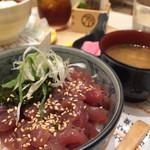 仙臺驛日本酒バル ぷらっと - まぐろ中落ち丼
