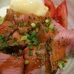 仙臺驛日本酒バル ぷらっと - ローストビーフ丼