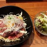 炭焼きビストロ楽 - ランチのローストビーフ丼