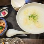 麺・粥 けんけん - エビワンタン粥\860(16-09)