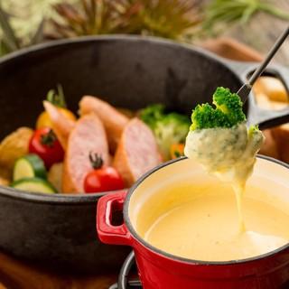 【大人気】自家製チーズフォンデュ2時間食べ放題980円