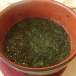 回転寿司 江戸ッ子 - 海苔汁 190円