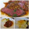 Bistro TOKI - 料理写真:お肉自体も柔らかいですし、ソースもいいお味。 添えられたジャガイモグラタンも美味しい。