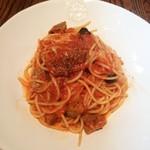 アマルフィイ キッチン - 仔羊のラグーソーススパゲッティ 旬の秋茄子をからめて