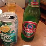 56496192 - チンタオビールと缶ちゅーはい