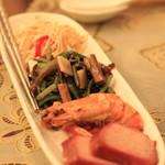 状元樓 - 前菜盛り合わせ ①干し豆腐♡ ②山菜の和え物♡ ③チャーシウ♡