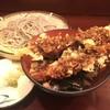 蕎麦肴酒さらざん - 料理写真:小盛りえび天丼とざる
