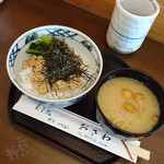 玉子焼 おざわ - 「とりそぼろ御飯」 味噌汁付き 1,000円 玉子焼おざわ