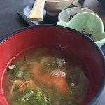道の駅 みつ シーサイドレストラン 魚菜屋 - 料理写真:釜飯には魚汁つき☆