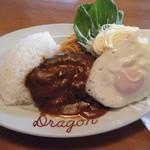 ドラゴン食堂 - 料理写真:ハンバーグランチ@800