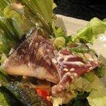 大人輝 - 大人輝コース【秋のサラダ】1人分 ・戻りカツオの叩きサラダ ポン酢ドレッシング