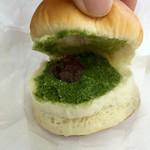 カメオカハサムコッペパン - 抹茶