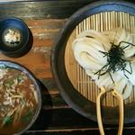 山元麺蔵 - 香味油の豚肉つけ麺