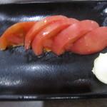 極楽湯 お食事処 - 2016/9②冷しトマト